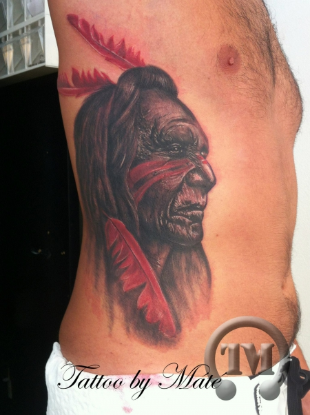 Indianer-Portrait, by Mate Miklos