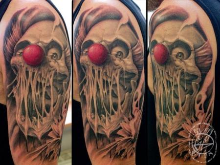 clown-Tattoo: Mein Clown
