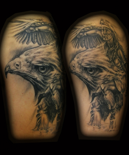 tattoomichel indianer eagledance tattoos von tattoo. Black Bedroom Furniture Sets. Home Design Ideas