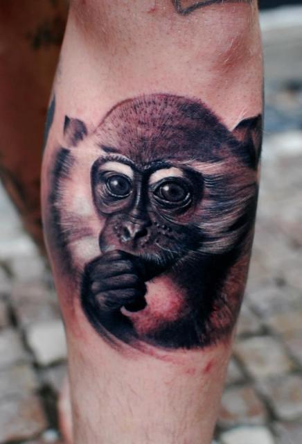 Sterne-Tattoo: Monkey