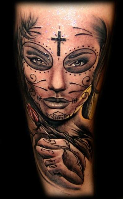 tattoos zum stichwort la catrina tattoo lass deine tattoos bewerten. Black Bedroom Furniture Sets. Home Design Ideas