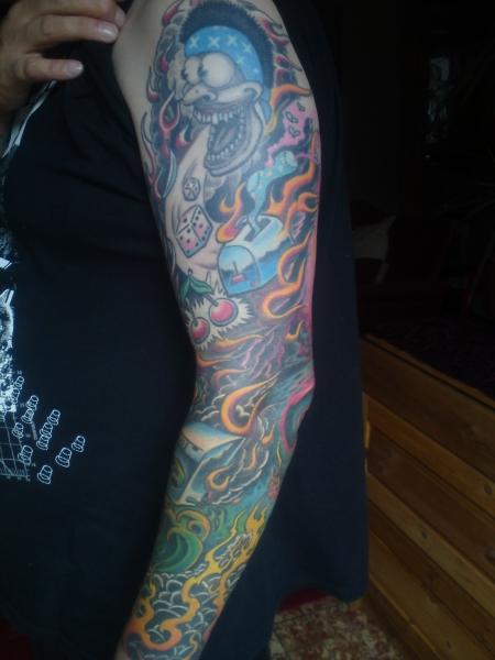würfel-Tattoo: spontan Ideen