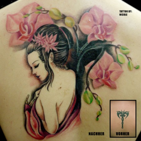 Geisha als Cover Up