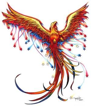 phoenix naemlich schon als tattoo komplett umbauen aus einem phoenix