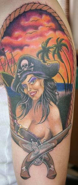 Piraten Pin Up