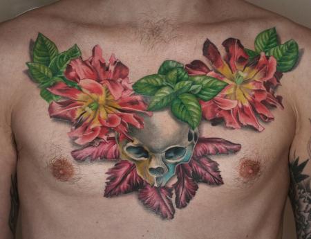 Skull-Tulpen-Stilleben