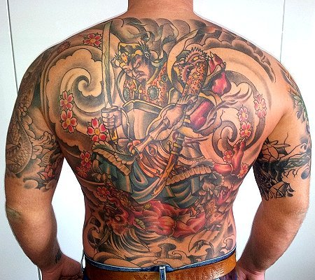 dämon-Tattoo: Back Piece