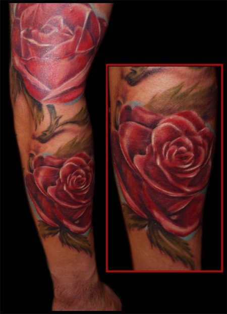 ranke-Tattoo: Rosen