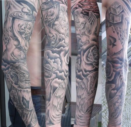 mysticarttattoo schwarz grau tattoos von tattoo