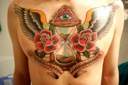 sanduhr-Tattoo: Sanduhr / Hell Yeah Tattoo Studio Karlsruhe (Miguel)