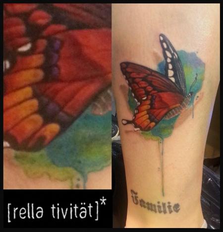 schmetterling-Tattoo: Schmetterling Aquarell