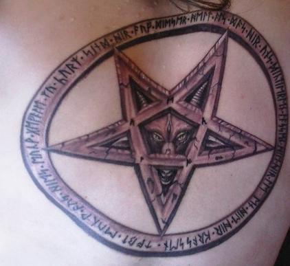 Erstes Tattoo  =  Pentagramm