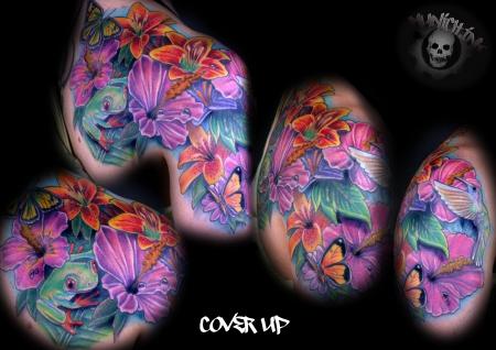 blume-Tattoo: blume tattoo + cover up