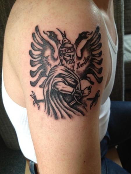 Albanian Tattoo Shqiponja Skenderbeu