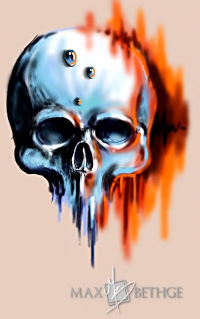 Kleiner Skull-Sketch