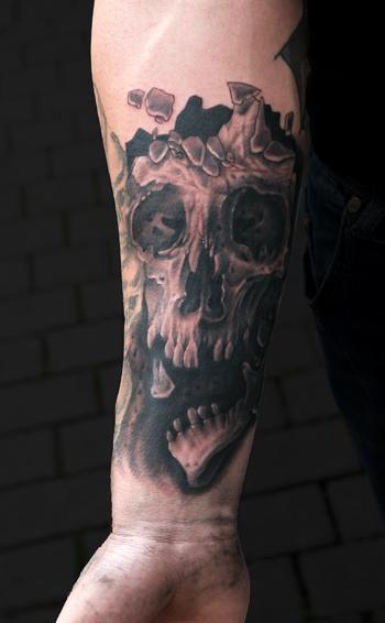 Skull - by Sjard, Trioxin Gallery, Frankfurt