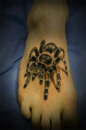 spinne-Tattoo: Spinne