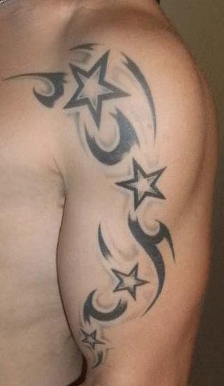 Tattoo Sterne Mann