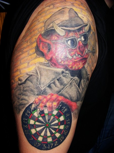 teufel-Tattoo: Dart monsters