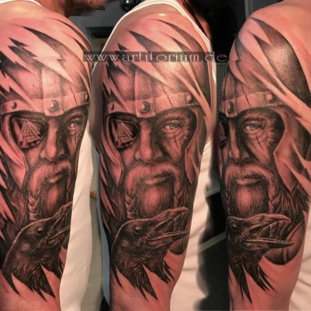wikinger-Tattoo: Odin