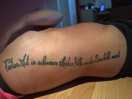 mein 1. Tattoo, drei Tage alt