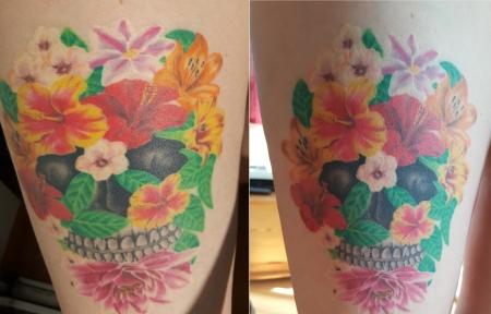 sonne-Tattoo: 3 Jahre später