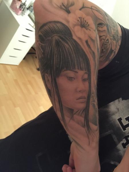 Asia Sleeve Teil 2 Geisha