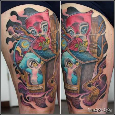 schwalben-Tattoo: Schwalben