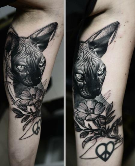 Tattoo Bewertung De: Lisbeth93: Nacktkatze - Sphynx