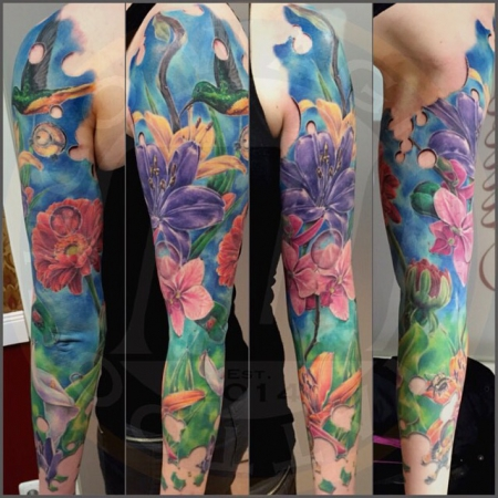 Handgelenk-Tattoo: Flowers