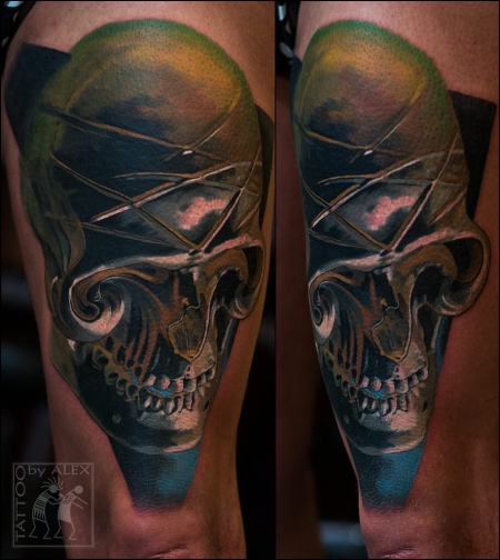 Tattoo done by our guest Oleksandr Minec