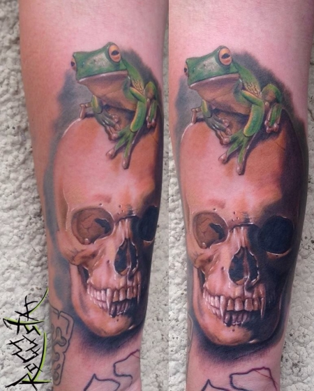 Handgelenk-Tattoo: Froschi