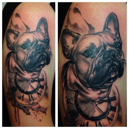 uhren-Tattoo: French Bulldog