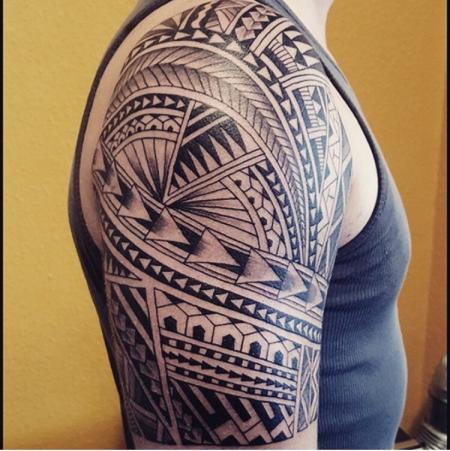 Maori-Tattoo: Maori oberarm
