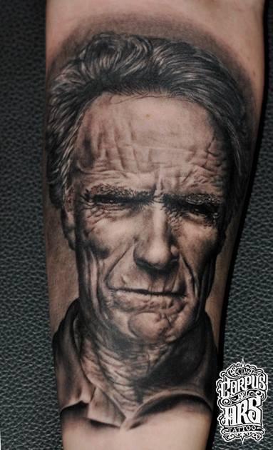 Clint Eastwood Tattoo Portrait