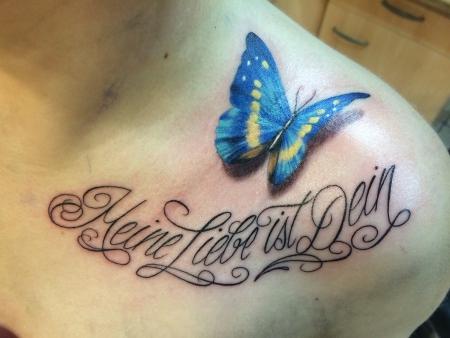 Schmetterling-Tattoo: Meine Liebe ist Dein...