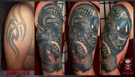 Alien Cover up 5 Monate verheilt