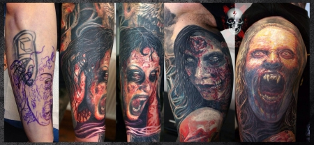 Horror Cover up Detail