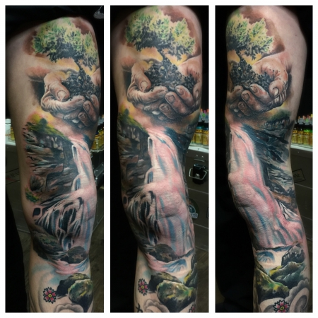 Waterfall legsleeve