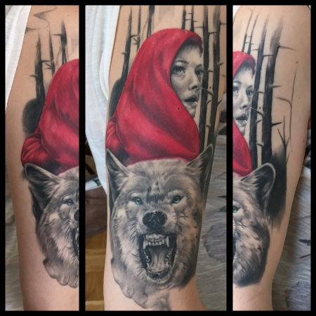 Wolf tattoos und wolfbilder for Red wolf tattoo