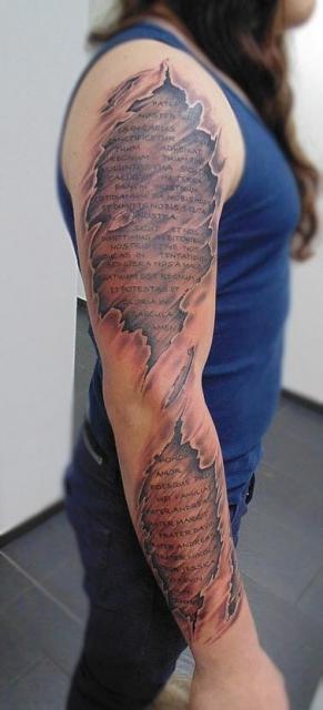 Kevin1995 Komplettarm Schrift Tattoos Von Tattoo Bewertung De