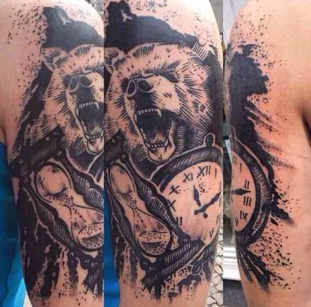 Bear & Clocks