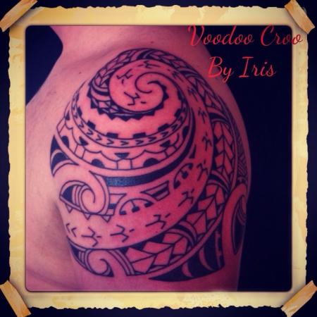 Tahiti tattoo, marquesian tattoo, tribal,