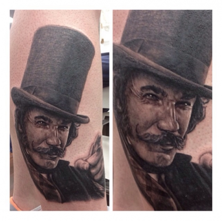 Daniel Day Lewis als William Cutting alias Bill the Butcher Tattooportrait