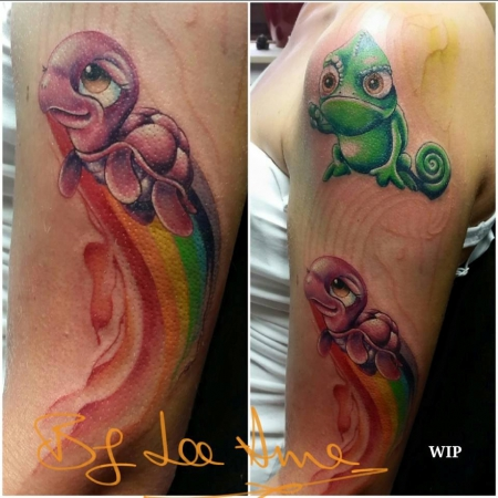 disney-Tattoo: Disney Rainbow