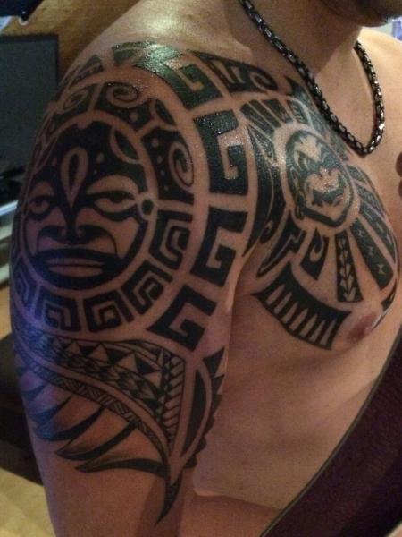 maori-Tattoo: Erste hälfte meines Armsleeves