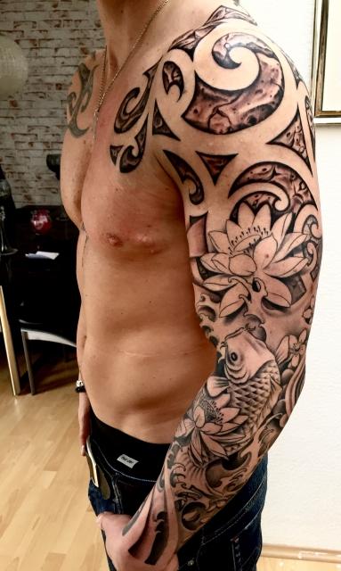 Maori-Tattoo: Asiatisch/Maori