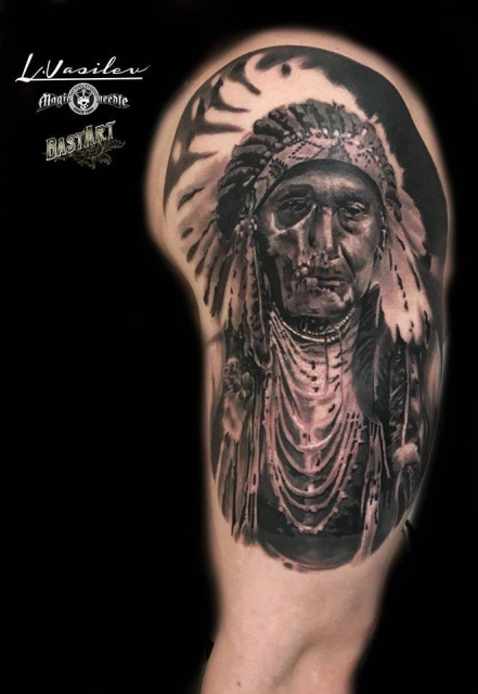 Indian Chief - Skull