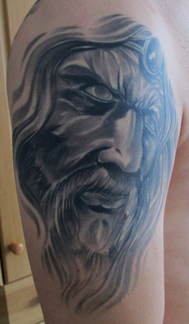 alter Keltischer Zauberer mit Bart :-)