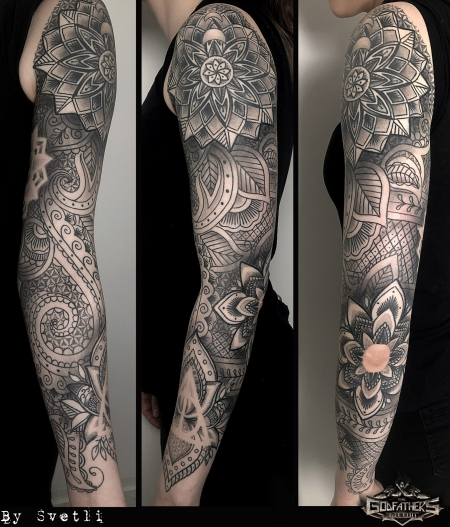 Mandala / Paisley Sleeve - Godfather's Tattoo Nürnberg - By SVETLI